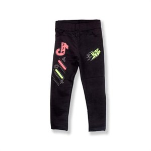 Shorts Mammakid Baby Toddler Kids Children Girl Leggings With Music Notes Embroidery Casual Outfit Sportswear Black