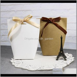 Wrap Thank You Merci Gift Wedding Birthiday Party Favours Bags Handmade Item Bag Candy Jewelry Necktie Packaging Foldable Box Xd22837 Hspz0
