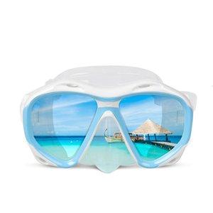 Copozz 브랜드 전문 수중 사냥 다이빙 마스크 스쿠버 무료 다이빙 스노클링 마스크 유연한 실리콘 대형 프레임 안경 sqchbe