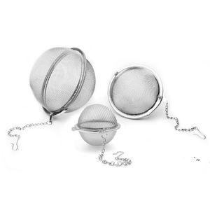 Stainless Steel Tea Pot Infuser Sphere Locking Spice Tea Ball Strainer Mesh Infuser Tea Strainer Filter Infusor BWE5900