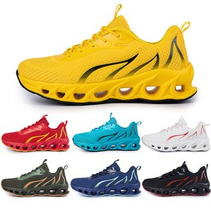 Running Shoes non-brand men fashion trainers white black yellow gold navy blue bred green mens sports sneakers #137