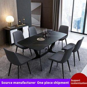 Мебель для столовой итальянская рок-пластина прямоугольный бытовой современный простой северный мрамор с мраморным столом
