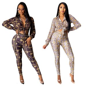 Letter Printed Women's Tracksuits Turn-down Collar Long Sleeve Spring Brand Women Shirts Clothes Set With Pants Fashion S-2XL