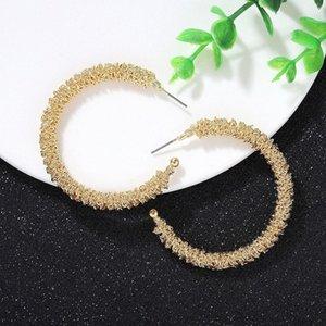Punk Style Semicircular Alloy Hoop Earrings Simple Fashion Geometric Hollow Semicircle Earrings for Women Hot Trend Catwalk New 470j#