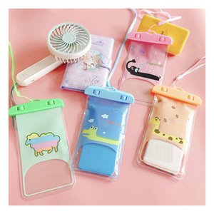 Cartoon Animal Waterproof Phone Pouches Drifting Transparent Touch Screen Riding Neck Rainproof Shell Swimming Bag Sealed Diving Case