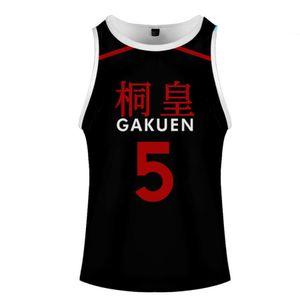 KUROKO'S BASKETBALL Kuroko No Basuke Basket GAKUEN School Uniform Aomine Daiki Cosplay Vest Basketball Jersey Sportswear Top
