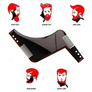 1PCS High Quality Beard Shaping Styling Template PLUS All-In-One Tool ABS Comb for Hair Trim
