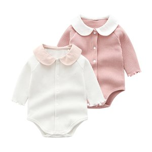 Cute Girls Clothes Spring Autumn Cotton Long Sleeved Bodysuit Baby Bag Fart Jumpsuit Toddler Outfits Newborn Infant7POX