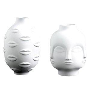 Artists,Potted Plants,Potted Plants,Garden Decoration,White Pottery Vase Vases