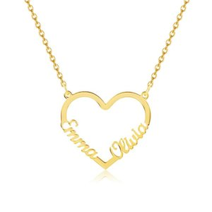 Style Custom Letter Necklace Cute Pendant Personality Name Heart-Shaped Necklaces For Women Girls' Anniversary Gifts Jewelry