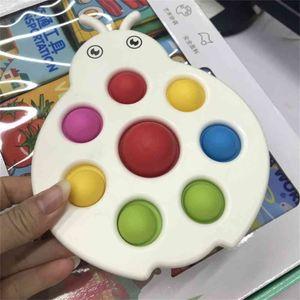 Caterpillar Ladybug Shape Bubble Poppers Board Finger Toys Push Pop it Sensory Bubbles Puzzle Silicone + Hard PC Stress Relief Educational H41USCB