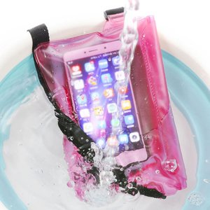 Waterproof Cell Phone Cases Swimming Bag Ski Drift Diving Shoulder Waist Pack Underwater Mobile Phones Bags Cover Beach Boat Sports