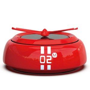 Car Air Freshener Solar Perfume Trendy Rotation Vehicle Essential Oil Diffuser Accessories Interior