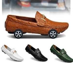 Spring and autumn beanie men&#39s British lazy leather large size business men s Color twenty six