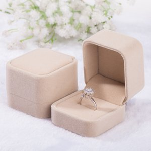 10pcs Flannel High-end Jewelry boxes Velvet Earrings Ring Badge box good quality jewerly cases wedding ring box blue grey multicolors 576 R2