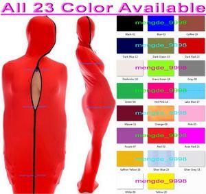 23 Renk Likra Spandex Mumya Kostümleri Unisex Uyku Tulumu İç Kol Kollu Seksi Kadın Erkek Vücut Çantaları Sleepsacks Catsuit Kostüm Cadılar Bayramı Cosplay Suit M004