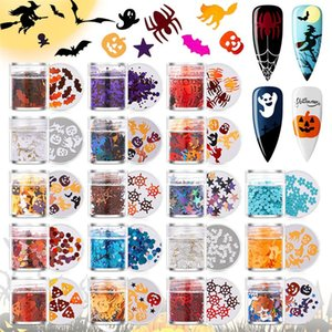 Nail Glitter Halloween Gold Snowflake Art Decoration Mixed DIY Manicures Christmas Sequins Flakes 3D Jewelry Accessories