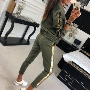 Women Autumn Clothes Gold Side Striped Zipper Coat Top and Pants 2pcs Sweat Suits Female Casual Outfits Two Piece Set Tracksuit1