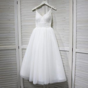 Bridesmaid Dress Fairy Lace Floor Length Pleast Tulle With Soft Lining Ivory  Champagne burgundy Spaghetti Backless