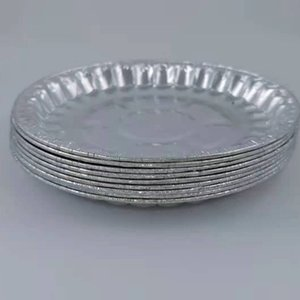 880ml disposable Dinnerware tableware tin foil box barbecue round aluminum lunch 1000 thick cover