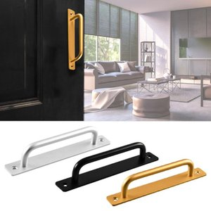 Handles & Pulls Sliding Barn Door Handle Pull Flush Recessed Wood Furniture Hardware For Cabinet Cupboard Interior 35-45MM