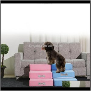 Kennels Pens Supplies Home Garden Toys Pet Stairs Puppy Bed Cushion Mat 2 Step Folding Breathable Mesh Sofa Ramp For Dog Cat Traning D