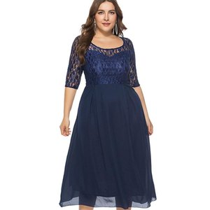 piece Party Dresses Club Midi Formal Dress Women Clothing 2020 High Quality Fashion Word Elegant Office Two Miaoke Plus Size