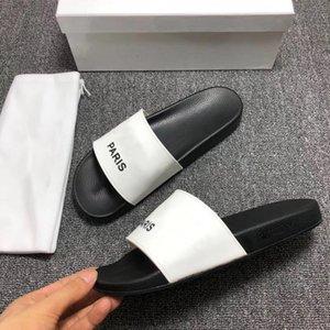 2021 Мужчины Женщины Слайд Сандалии Дизайнерские Обувь Роскошные Слайд Летние Мода Широкие Плоские Скользкие Густые Сандалии Тапочки Шляпы