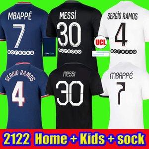 MBAPPE MESSI soccer jerseys HAKIMI SERGIO RAMOS 21 22 Maillots de football shirt 2021 2022 ICARDI men kids kit uniforms enfants maillot foot