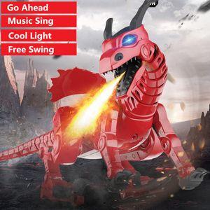 child Friend Toy High Simulation Electric Walking Dinosaur 45CM Big Size Electric Dinosaur With Light Sound WalKing Music Sing