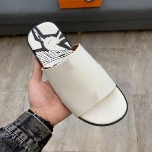 Hermes slippers informales de los nuevos hombres de verano de alta calidad, zapatos de playa de cuero de verano, zapatillas de interior para hombres, venta caliente grande 38-46