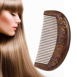 Hair Brushes Care Comb Anti-static Handmade Natural Wood Wooden Carved Sandalwood Combs