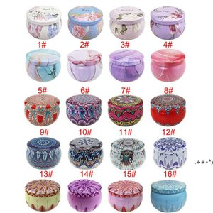 DIY Handmade Scented Candle Jar Empty Round Tinplate Can Candles Tea Food Candy Tablet Accessories Storage Box 7.7*5CM FWB6035