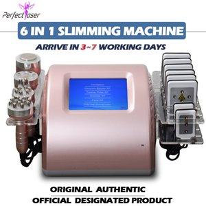 2 года гарантийное ультразвуковая кавитация жирная машина для похудения машина липо лазерная потеря веса радиочастотная кожа затягивает косметическое оборудование 5 головок