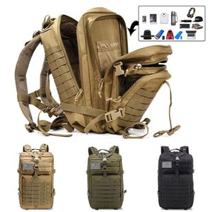50L Large Military Backpack Man Softback Outdoor Tactical Bags 3P Molle Camping Hunting Rucksack
