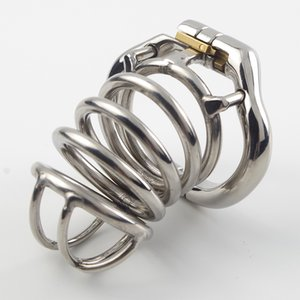 Male Chastity Belt Arc-shaped Cock Ring Stainless Steel Chastitys Device Penis Restraint Cage Sex Toy For Men