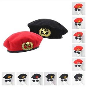 رجل إمرأة البيريه قبعة ربيع الخريف الشتاء الصوف شعرت القبعات للرجال النساء أزياء الأوروبي الولايات المتحدة الجيش قبعات النمط البريطاني بحار القبعات أمن