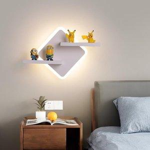 Wall Lamps Modern LED Lamp Simple Bedroom Bedside Indoor Lighting Ceiling Children's Room Aisle Nordic Shelf Lights