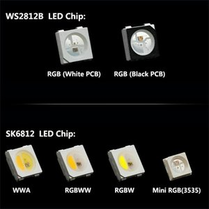 10 ~ 1000pcs WS2812B (4 핀) SMD 블랙 / 화이트 버전 SK6812 개별적으로 어드레스 가능한 디지털 RGB RGBW LED 칩 DC5V 스트립