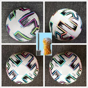 Top quality European Cup size 4 Soccer ball 2021 Final KYIV PU 5 balls granules slip-resistant football high (Ship the without air)