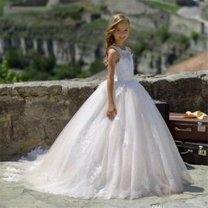 Flower Girls Dresses For Wedding Kids Pageant Dress First Holy Communion Little Baby Party Prom Family Matching Outfits