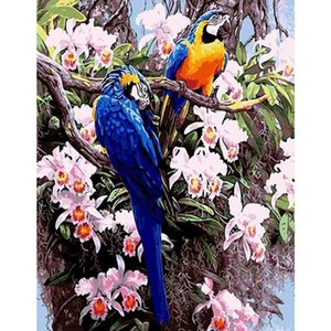 Classic Bird DIY Painting By Numbers Canvas Parrot Paint Number Acrylic Hand Painted Oil Modern Wall Art Unique Gift Paintings