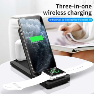 Suitable for mobile phone, watch, headset three-in-one wireless fast charger