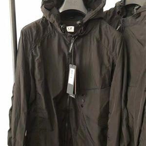 Metal nylon two glasses GOGGLE men jacket casual CP hoodies outdoor windbreak black army greensize M-XXL