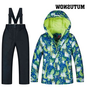 Windproof Boy Ski Girl Outdoor Children's + Snow Waterproof Suit Kids Sets Jacket Snowboarding Clothing Strap Pant
