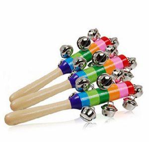 Baby Rainbow Toy Kid Pram Crib Ручка Деревянная активность Белкольник Палшка Шейкер Гроздь 100 р / л 752 S2