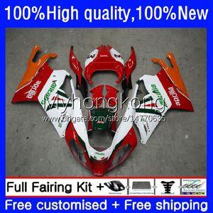 Body Red white orange Kit For Aprilia RSV1000R Mille RV60 RSV 1000 R 1000R 2003 2004 2005 2006 Cowling 9No.67 RSV1000RR RSV1000 RSV-1000 R RR 03 04 05 06 Motorcycle Fairing