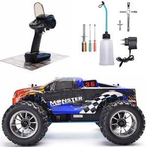 1:10 스케일 두 속도 끄기 몬스터 트럭 니트로 가스 전원 4WD 원격 제어 자동차 고속 취미 RC 차량