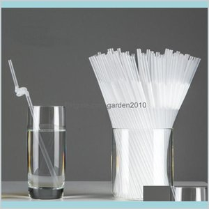 Disposable Cups & Straws Kitchen Supplies Kitchen, Dining Bar Home Garden Transparent Flexible Plastic Bendy Party Wine Juice Drinking