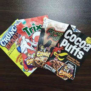 Пустые Edibles Упаковочный мешок Tris Tris Cocoa Reese's Crunch Berres Mylar Stand Up Coch Szipper Realable